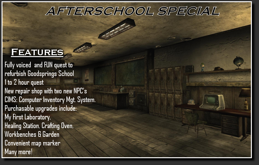Afterschool Special At Fallout New Vegas Mods And Community